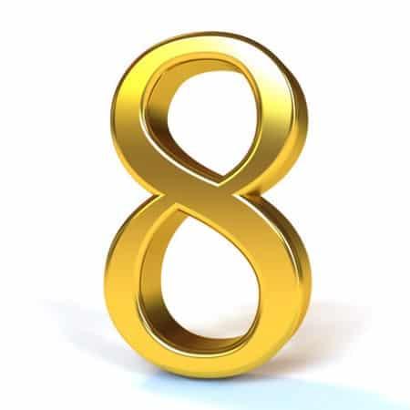 calendrier lunaire symbolique du chiffre huit 8