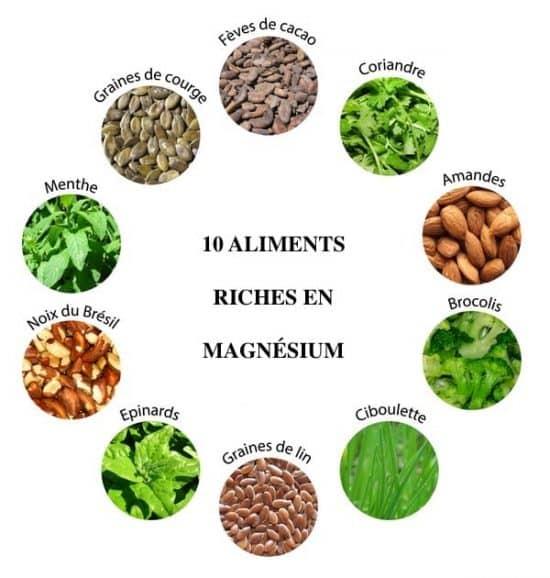 calendrier lunaire - 10 aliments riches en magnesium